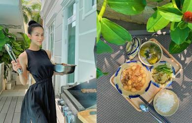 Phương Khánh thừa nhận mình vụng về nhưng nhìn loạt món ăn tự nấu, dân mạng liền bình luận 'mở quán được rồi'